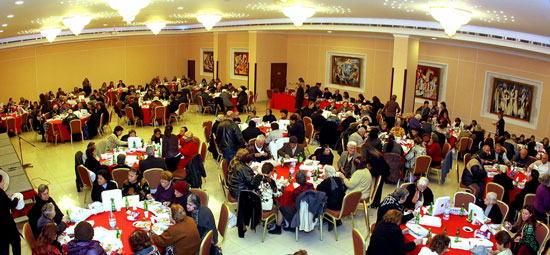 The Christmas and New Year gathering was attended by 200 elderly.