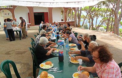The elderly having lunch at KCHAG.