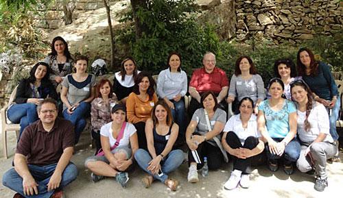 The participants of the spiritual retreat.