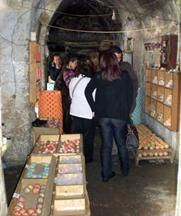 Trainees visit a traditional soap factory in Tripoli
